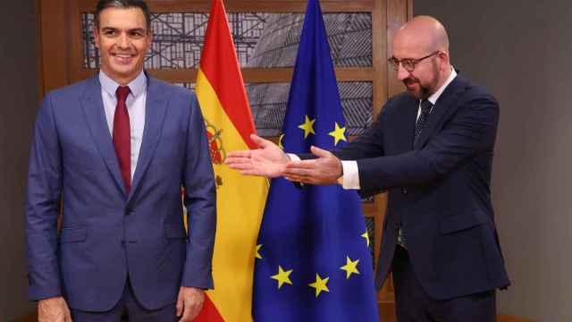 Pedro Sánchez, presidente de España, y Charles Michel, presidente del Consejo Europeo.
