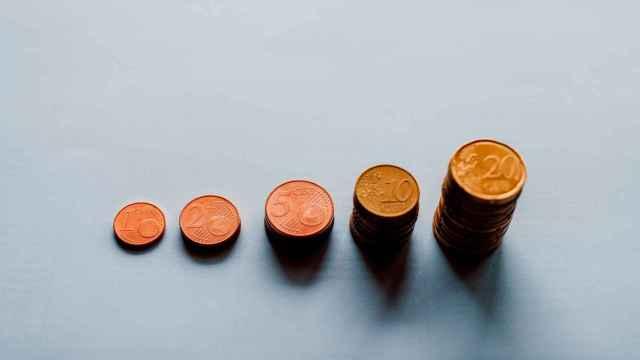 Monedas de céntimos de euro.
