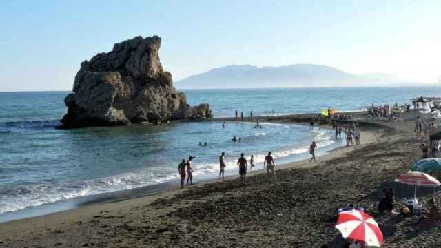 La playa del Peñón del Cuervo en una foto de archivo.