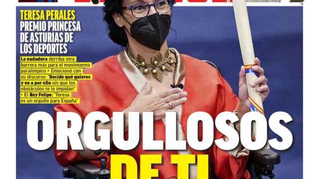 La portada del diario MARCA (23/10/2021)