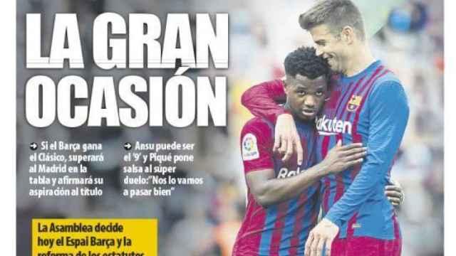 La portada del diario Mundo Deportivo (23/10/2021)