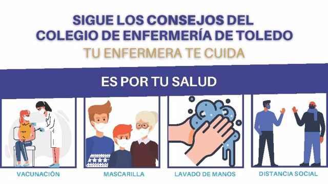 Campaña de las enfermeras de Toledo para recordar que el coronavirus sigue entre nosotros.