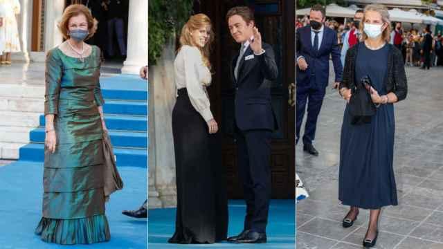 La reina Sofía y la infanta Elena se reúnen con la realeza en la boda de Philippos de Grecia y Nina Flohr: todos los invitados