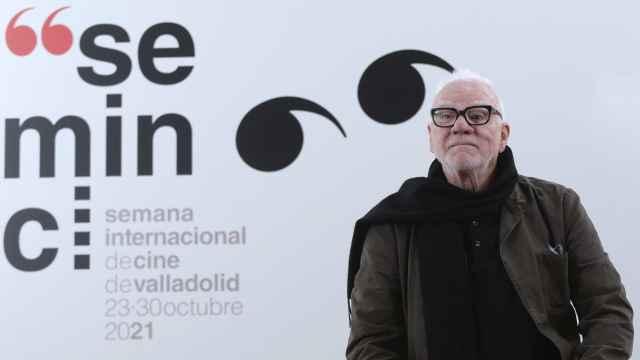 Malcolm McDowell en Valladolid para homenajear el 50 aniversario de 'La naranja mecánica'.