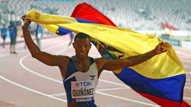 Alex Quiñónez, atleta ecuatoriano