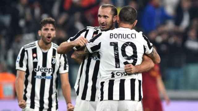 Chiellini y Bonucci, en un partido de la Juventus de Turín