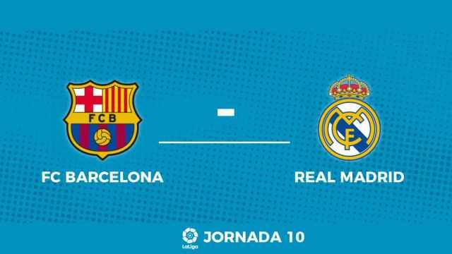 Marcador de El Clásico de La Liga entre FC Barcelona y Real Madrid