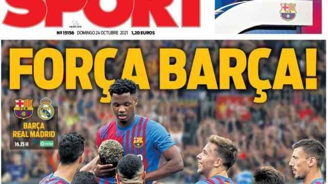 Portada Sport, domingo 24 de octubre de 2021