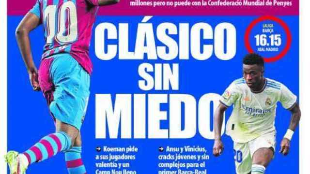 Portada Mundo Deportivo, domingo 24 de octubre de 2021