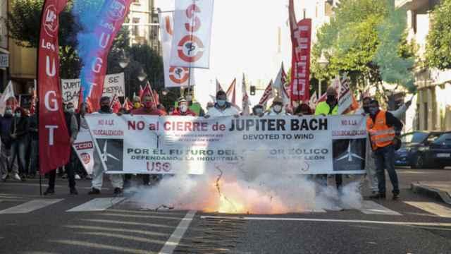 Trabajadores de Jupiter Bach se manifiestan en León