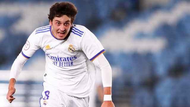 Dotor, con el Real Madrid Castilla