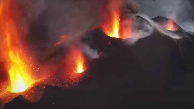 Erupción volcánica en La Palma.