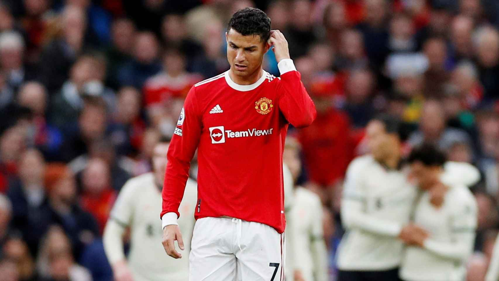 Cristiano Ronaldo, contra el Liverpool