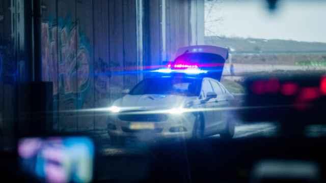 Imagen de archivo de un control de policía.