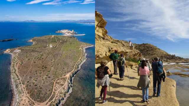 Tabarca y Cabo de las huertas, en dos imágenes recientes.