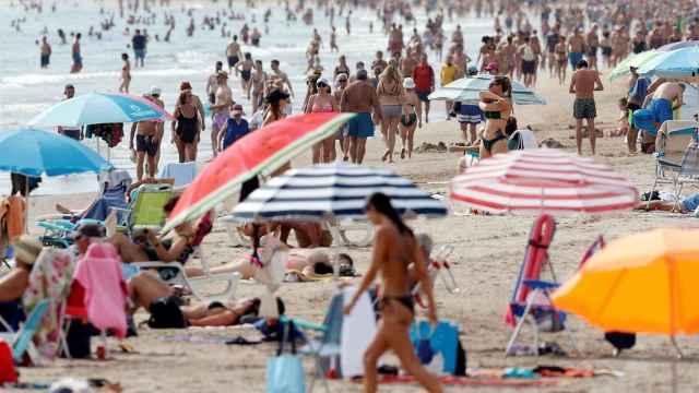 Playa de la Malvarrosa el pasado mes de septiembre.