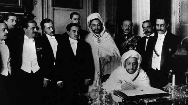 Fotografía de la firma del tratado de la Conferencia de Algeciras de 1906 - Wikipedia