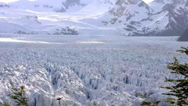 Foto de El Glaciar Perito Moreno en la Patagonia argentina.