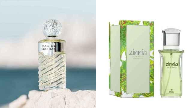 Eau de Rochas y Zinnia, la imitación hecha por Deliplis.