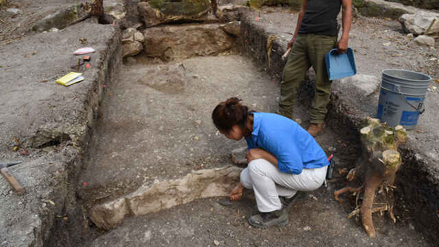 Excavaciones en el yacimiento de Aguada Fénix, en México.