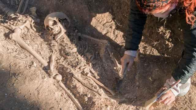 Una de las víctimas de la represión en Belchite.