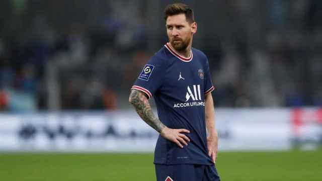 Leo Messi durante un partido del PSG