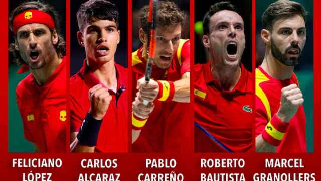 Seleccion española de tenis para la Copa Davis 2021