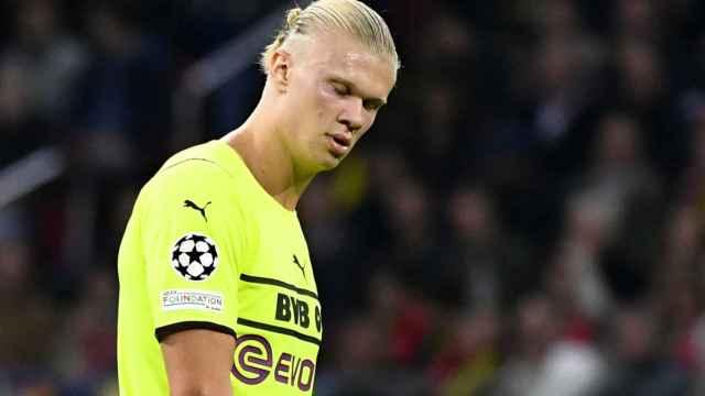 Erling Haaland, en un partido del Borussia Dortmund de la temporada 2021/2022