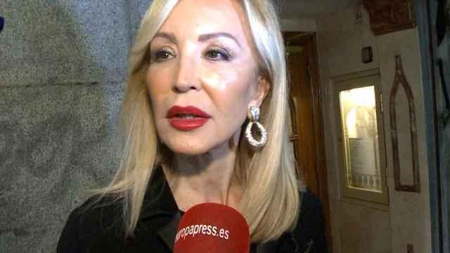 Carmen Lomana, al habla con Europa Press