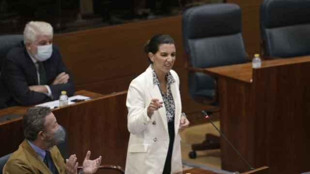 La portavoz de Vox en la Asamblea de Madrid, Rocío Monasterio, interviene en el último pleno.
