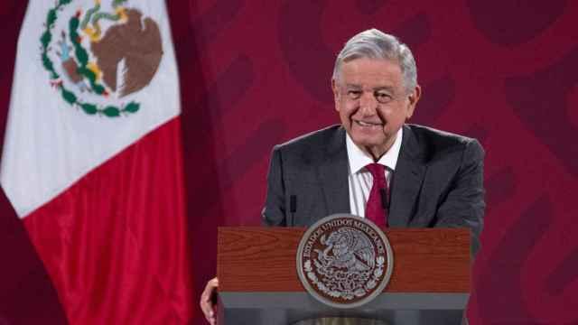 El presidente de México durante una rueda de prensa.