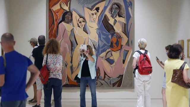 Una imagen del Museo Picasso de Málaga en su interior.