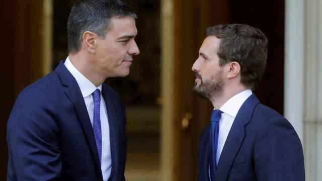 Pablo Casado y Pedro Sánchez, líderes de PP y PSOE.
