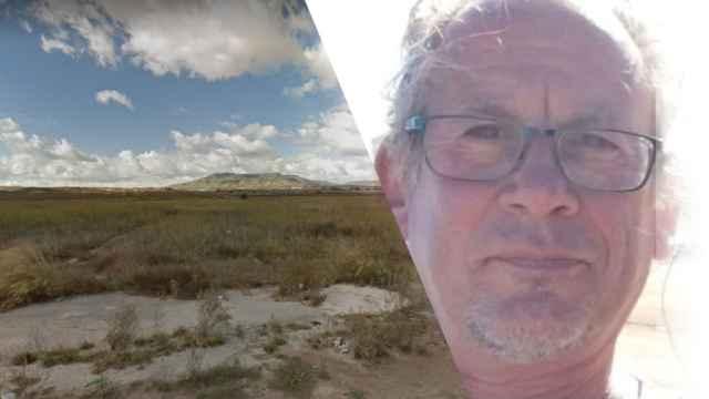 David Jackson Pope en la imagen usada para su búsqueda y, a la izquierda, el lugar aproximado donde se encontró su cuerpo.