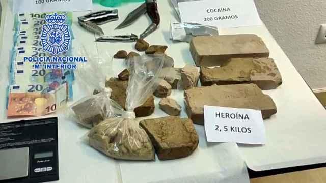 El material incautado por la Policía.