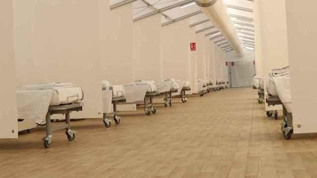 Hospital de Campaña de Alicante antes de su inauguración.
