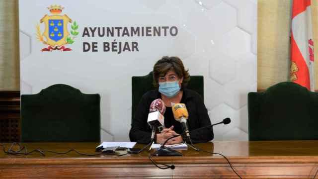 La alcaldesa de Béjar, Elena Martín-Vázquez