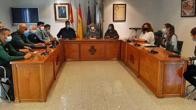Un momento de la reunión de la Junta Local de Seguridad de Peñaranda de Bracamonte