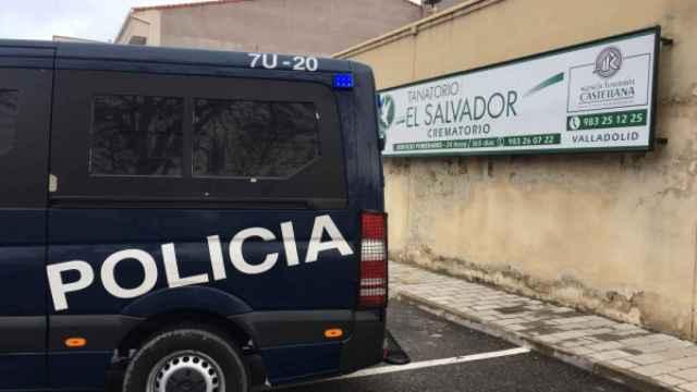 Intervención de la Policía Nacional en el tanatorio El Salvador en 2019