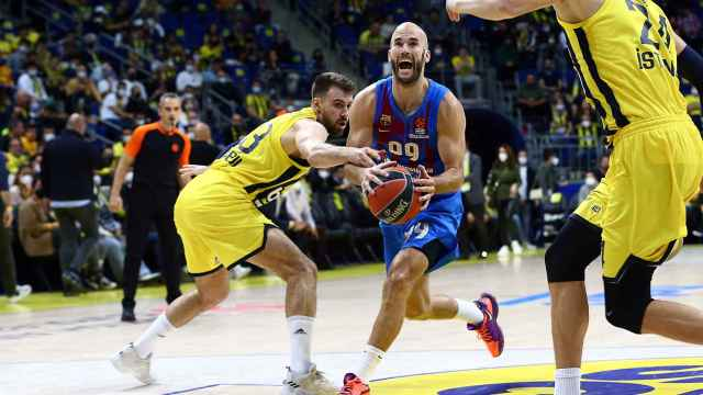 Nick Calathes, en el Fenerbahce - Barcelona Basket de la Euroliga 2021/2022