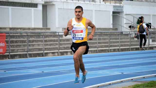 Hamza Bouazzaoui durante una prueba