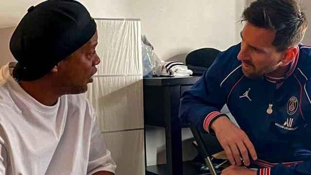 Ronaldinho y Messi se reencuentran en París. Foto: Instagram (@ronaldinho)