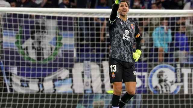 Diego López, en un partido del Espanyol en La Liga 2021/2022