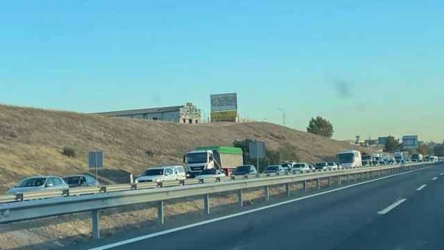 La A-42, sentido Toledo, atascada en la zona de Illescas.