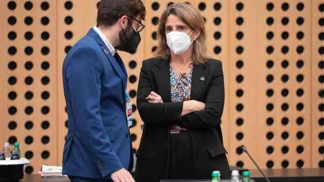 La vicepresidenta tercera, Teresa Ribera, durante una reunión de ministros de Energía de la UE