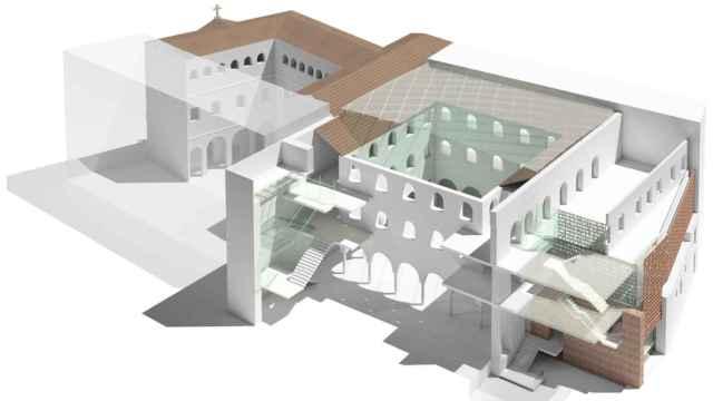 Maqueta de la actuación de rehabilitación prevista en el antiguo convento de San Agustín.