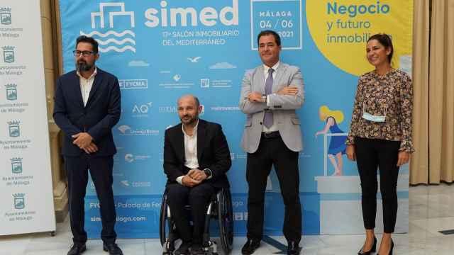 Francisco Pomares, Raúl López, Juan Carlos Rosillo y Paula Morales.