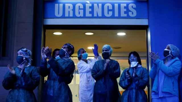 Sanitarios del Hospital Dos de Mayo de Barcelona.