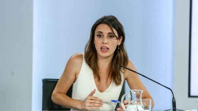 La ministra de Igualdad, Irene Montero. EP