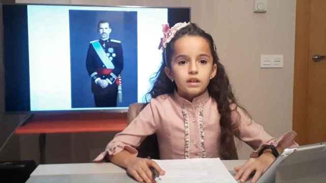 La niña leonesa que más sabe sobre Felipe VI en Castilla y León